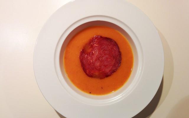 Recette de soupe de potiron au chorizo