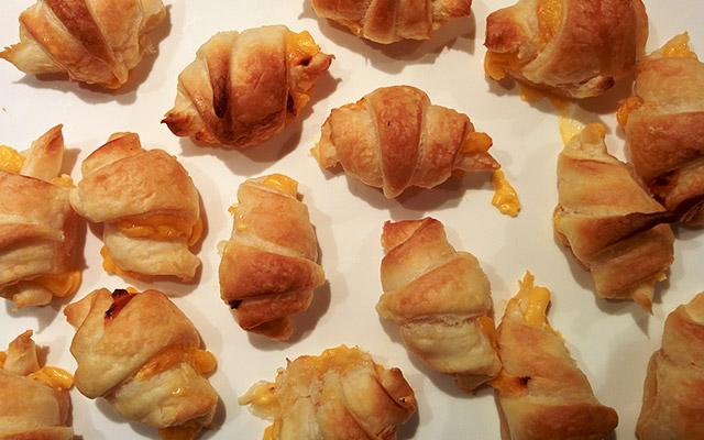 Recette de mini croissant au jambon et au cheddar