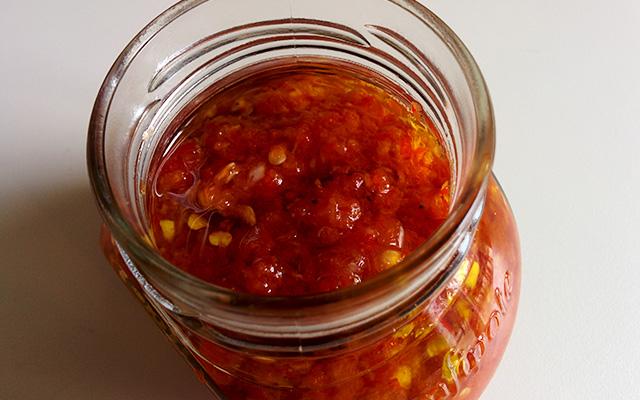 Recette de la purée de piments