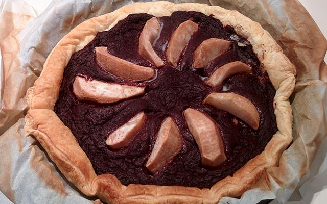 Recette de la tarte aux poires et au chocolat