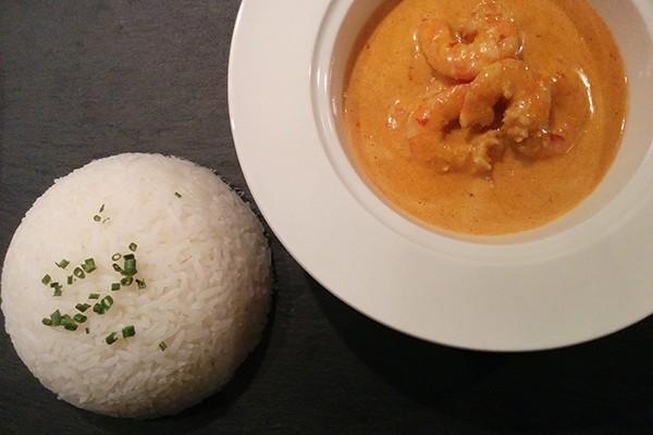 Recette de crevettes à la sauce curry